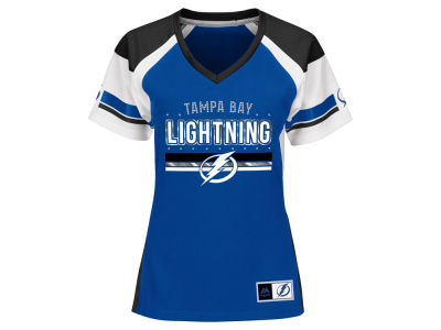 Tampa Bay Lightning Majestic NHL Women's Ready to Win Shimmer Jersey