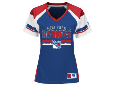 New York Rangers Majestic NHL Women's Ready to Win Shimmer Jersey