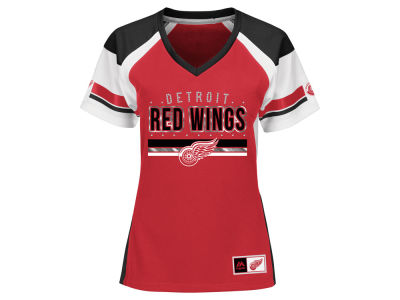 Detroit Red Wings Majestic NHL Women's Ready to Win Shimmer Jersey