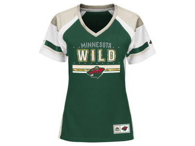 Minnesota Wild Majestic NHL Women's Ready to Win Shimmer Jersey