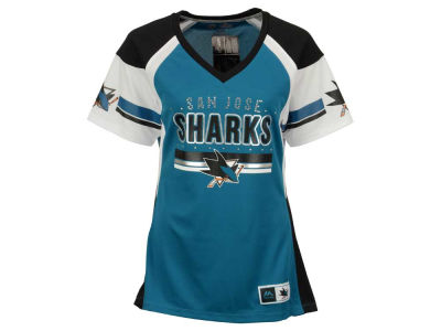 San Jose Sharks Majestic NHL Women's Ready to Win Shimmer Jersey