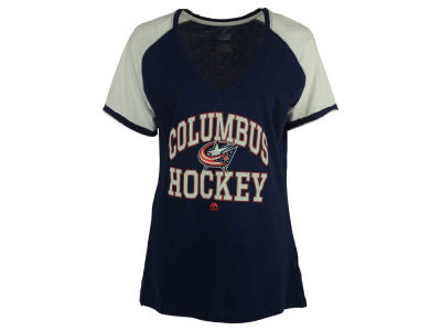 Columbus Blue Jackets Majestic NHL Women's Backup Plan T-Shirt