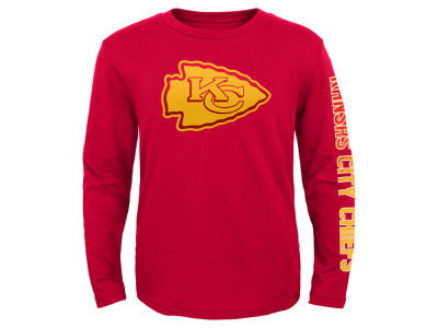 Kansas City Chiefs Outerstuff NFL Youth Long Sleeve Hourglass T-Shirt