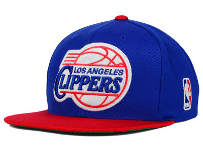 Los Angeles Clippers Mitchell and Ness NBA XL Logo Snapback Cap