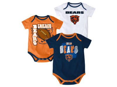 Chicago Bears Outerstuff NFL Infant 3 Point Spread Body Suit Set
