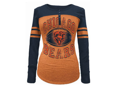 Chicago Bears 5th & Ocean NFL Women's Henley Long Sleeve T-Shirt