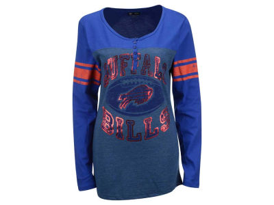 Buffalo Bills NFL Women's Henley Long Sleeve T-Shirt