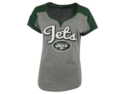 New York Jets 5th & Ocean NFL Women's Rolled Sleeve T-Shirt