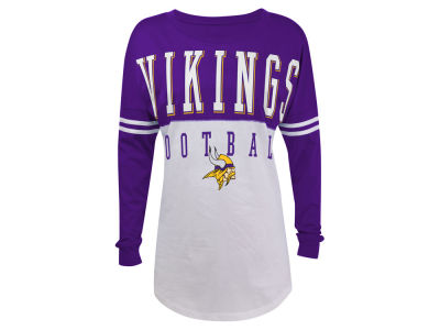 Minnesota Vikings NFL Women's Sweeper Long Sleeve T-Shirt