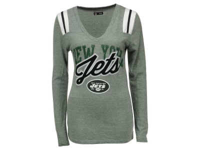 New York Jets 5th & Ocean NFL Women's Kick Pass Long Sleeve T-Shirt