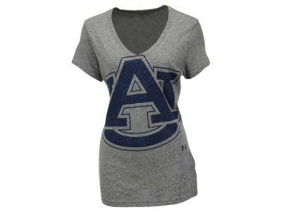 Auburn Tigers NCAA Women's Tri Blend V-Neck T-Shirt