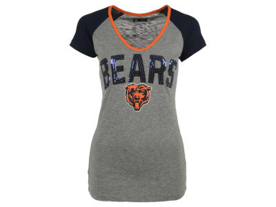Chicago Bears 5th & Ocean NFL Women's Sequin CB T-Shirt
