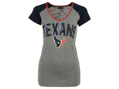 Houston Texans 5th & Ocean NFL Women's Sequin CB T-Shirt