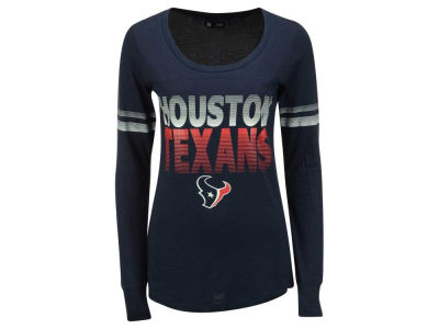 Houston Texans 5th & Ocean NFL Women's Gradient Long Sleeve T-Shirt