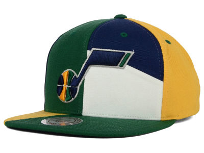 Utah Jazz Mitchell and Ness NBA Cut & Sew Snapback Cap
