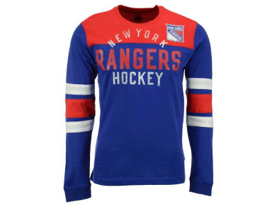 New York Rangers GIII NHL Men's Flying Ice Long Sleeve Shirt