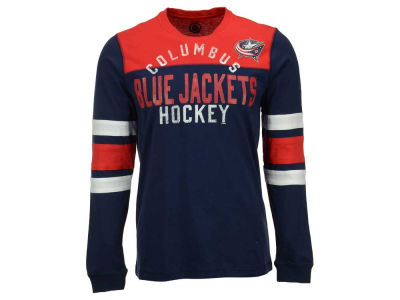 Columbus Blue Jackets GIII NHL Men's Flying Ice Long Sleeve Shirt
