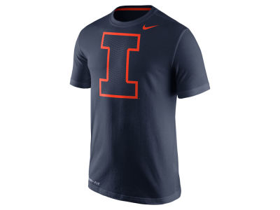 Illinois Fighting Illini Nike NCAA Men's Dri-Fit Cotton Travel T-Shirt