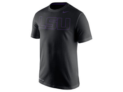 LSU Tigers Nike NCAA Men's Dri-Fit Cotton Travel T-Shirt