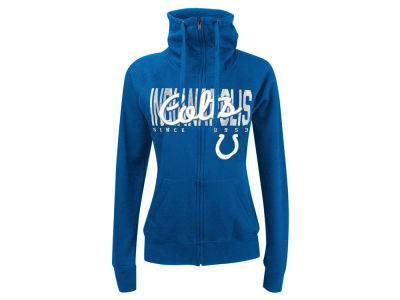 Indianapolis Colts 5th & Ocean NFL Women's Athletic Funnel Neck Hoodie