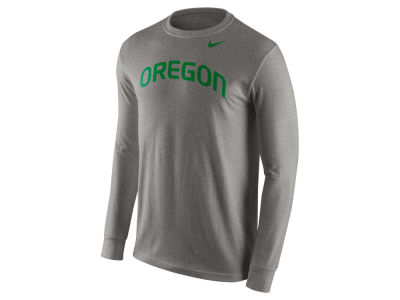 Oregon Ducks Nike NCAA Men's Cotton Wordmark Long Sleeve T-Shirt