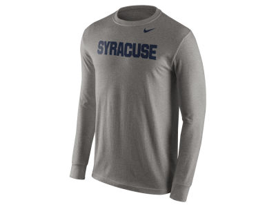 Syracuse Orange Nike NCAA Men's Cotton Wordmark Long Sleeve T-Shirt