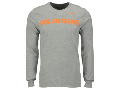 Tennessee Volunteers Nike NCAA Men's Cotton Wordmark Long Sleeve T-Shirt