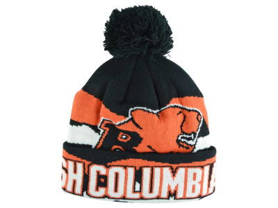 BC Lions Outerstuff CFL Youth Allover Print Cuffed Knit with Pom