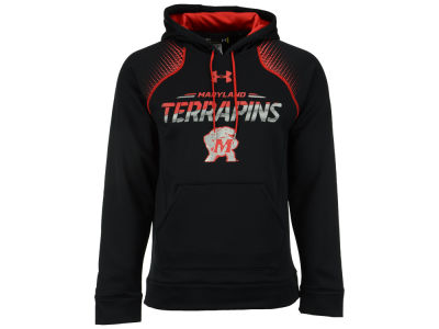 Maryland Terrapins Under Armour NCAA Men's Metallic Chrome Ink Hoodie