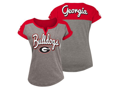 Georgia Bulldogs 5th & Ocean NCAA Women's Rolled Sleeve T-Shirt