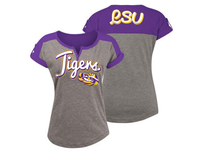 LSU Tigers 5th & Ocean NCAA Women's Rolled Sleeve T-Shirt