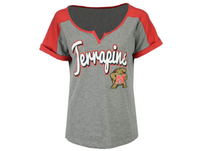 Maryland Terrapins 5th & Ocean NCAA Women's Rolled Sleeve T-Shirt