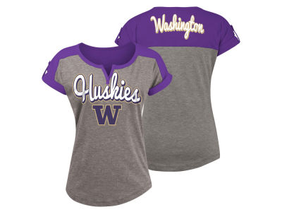 Washington Huskies 5th & Ocean NCAA Women's Rolled Sleeve T-Shirt