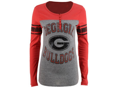 Georgia Bulldogs 5th & Ocean NCAA Women's Vintage Raglan T-Shirt