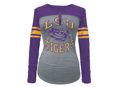 LSU Tigers 5th & Ocean NCAA Women's Vintage Raglan T-Shirt