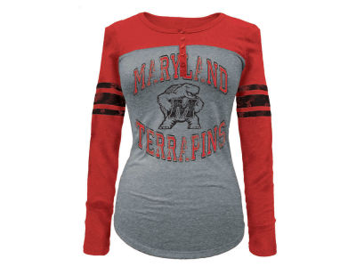 Maryland Terrapins 5th & Ocean NCAA Women's Vintage Raglan T-Shirt