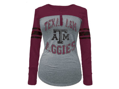 Texas A&M Aggies 5th & Ocean NCAA Women's Vintage Raglan T-Shirt