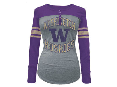 Washington Huskies 5th & Ocean NCAA Women's Vintage Raglan T-Shirt