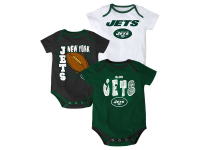 New York Jets NFL Infant 3 Point Spread Body Suit Set