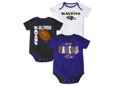 Baltimore Ravens NFL Infant 3 Point Spread Body Suit Set