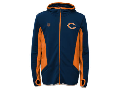 Chicago Bears NFL Youth Strike Full Zip Hoodie