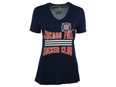 Chicago Fire adidas MLS Women's Middle Stripes T-Shirt