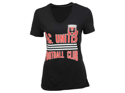 DC United adidas MLS Women's Middle Stripes T-Shirt