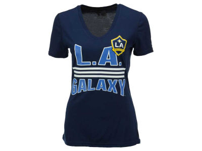 LA Galaxy adidas MLS Women's Middle Stripes T-Shirt