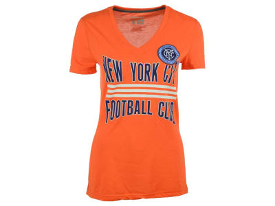 New York City FC adidas MLS Women's Middle Stripes T-Shirt