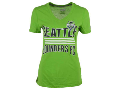 Seattle Sounders FC adidas MLS Women's Middle Stripes T-Shirt