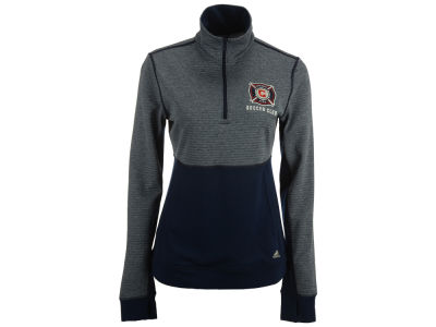 Chicago Fire adidas MLS Women's Logo Climalite 1/2 Zip Jacket