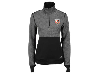 DC United adidas MLS Women's Logo Climalite 1/2 Zip Jacket