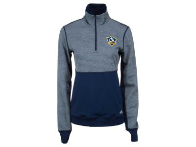 LA Galaxy adidas MLS Women's Logo Climalite 1/2 Zip Jacket