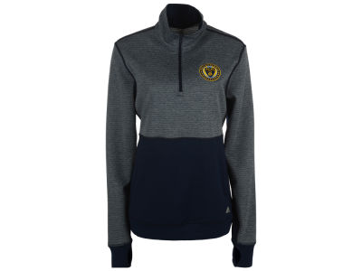 Philadelphia Union adidas MLS Women's Logo Climalite 1/2 Zip Jacket